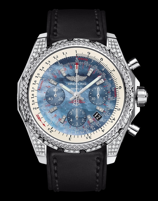 Breitling Bentley B06s Quadrante In Acciaio Con Perla Replica Diamanti Orologio